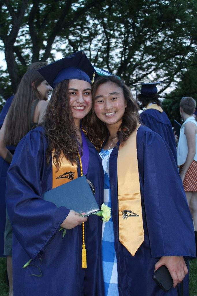 Alexa at graduation with her Korean friend