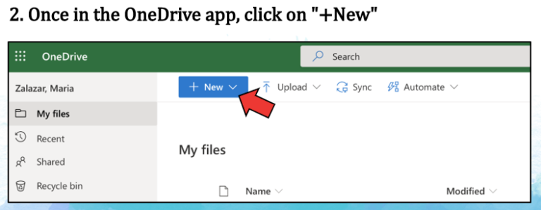 Second step to upload draft to onedrive